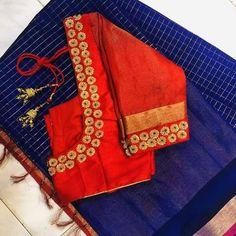 Hand Work Blouse Design, Simple Blouse Designs, Stylish Blouse Design, Simple Designs, Wedding Saree Blouse Designs, Saree Blouse Neck Designs, Blouse Patterns, Maggam Work Designs, Maggam Works