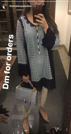 Best 12 Kurtis design – Page 318207529920529471 – SkillOfKing. Dress Neck Designs, Stylish Dress Designs, Designs For Dresses, Stylish Dresses, Casual Dresses, Pakistani Fashion Casual, Pakistani Dresses Casual, Pakistani Dress Design, Frock Fashion