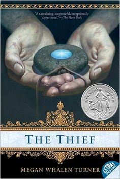 The Thief by Megan Whalen Turner. Gen flaunts his ingenuity as a thief and relishes the adventure which takes him to a remote temple of the gods where he will attempt to steal a precious stone.
