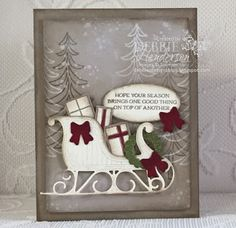 Stampin' Up! Santa's Sleigh and Awesomely Artistic for Merry Monday Challenge #217. Debbie Henderson, Debbie's Designs.