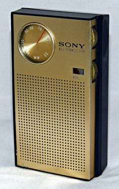 Vintage Sony Model TR-1811 Transistor Radio, Broadcast Band Only (MW), 6 Transistors, Made In Japan, Circa 1965.