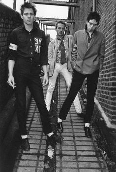 The Clash photographed by Kate Simon, 1976