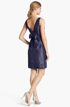 Jenny Yoo 'Cadie' Bow Detail Shantung Sheath Dress | Nordstrom