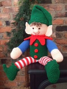Crochet Pattern Christmas Elbert The Elf by CrochetVillage on Etsy, $7.99
