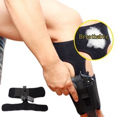 Ankle Holster For Concealed Carry 1PC Breathable Adjustable Leg Carry Pistol Gun Holster With Magazine Pouch For Glock 27,42,43.(Hong Kong)