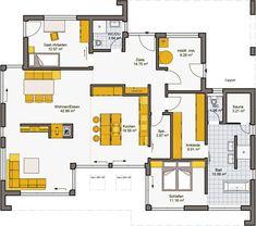 Architekten-Haus Fertighaus Finess 148 Grundriss EG