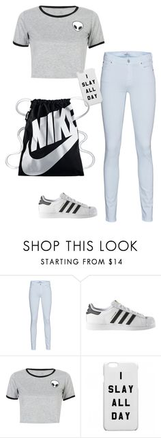 """Everyone"" by summerloveforever335 ❤ liked on Polyvore featuring 7 For All Mankind, adidas, WithChic and NIKE"