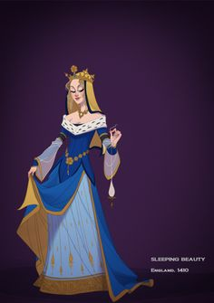 Historically Accurate Disney Princesses - Aurora I think I'm going to cosplay as her. This is awesome!