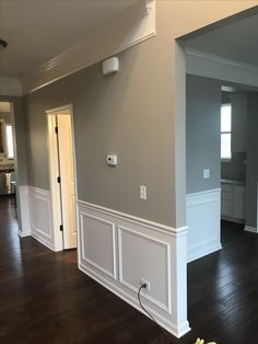 Home Room Design, Home Interior Design, House Design, Wainscoting Styles, Room Wall Colors, Hallway Designs, Paint Colors For Home, Hallway Decorating, House Rooms