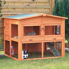 Shop for Lovupet Wooden Rabbit Hutch Small Animal House Pet Cage Coop Blue. Get free delivery On EVERYTHING* Overstock - Your Online Small Animal Supplies Store! Get in rewards with Club O! Rabbit Hutch Plans, Large Rabbit Hutch, Outdoor Rabbit Hutch, Rabbit Hutches, Rabbit Cages Outdoor, Guinea Pig House, Guinea Pigs, Outdoor Cat Run, Bunny Hutch