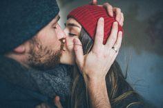 Beard kisses.
