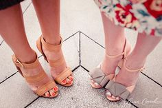 neutral shoes & bright toes #shoes #polish