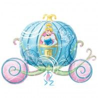 Girls Disney Princess Carriage Shaped Jumbo Foil Balloon This Cinderella carriage is waiting to ride beautiful princess. This balloon is perfect for Cinderella themed birthday party and it will complete the decoration scene for princess party. Disney Princess Carriage, Cinderella Carriage, Disney Princess Party, Princess Balloons, Disney Balloons, Balloon Ribbon, One Balloon, Qualatex Balloons, Foil Balloons