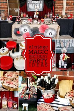 BOY'S VINTAGE MAGIC BIRTHDAY PARTY IDEAS