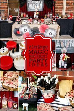 BOY'S VINTAGE MAGIC BIRTHDAY PARTY IDEAS