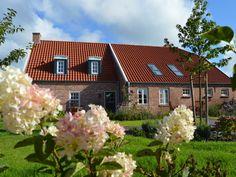 Ostfriesland: großer Garten mit Sonnenliegen und Terrassenmöbeln