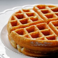 """""""Best Ever Belgian Waffles in the World"""" yeah I know that's a big statement there for a simple waffle. But you don't understand, coming from me – that woman who really…"""