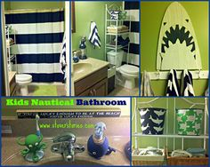 {DIY} Nautical Boys Bathroom Project