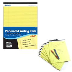 1 Perforated Writing Pad Legal Ruled Universal 50 Sheets Letter Size 8.5 x 11.7