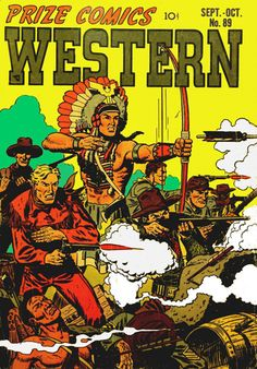 Prize Comics Western #89 - Western Comic Book Cover Poster – Available Now: http://westerncollectibles.blogspot.com/2015/01/prize-comics-western-89-comic-poster.html