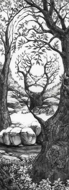 #art #wtf #Tiger tree #beautiful #tiger #awesome #amazing #nature #badass #very cool!