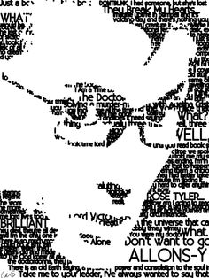 """""""Allons-y"""", """"What"""", """"Brilliant"""", and """"Rose Tyler"""" are the ones printed biggest. <3"""