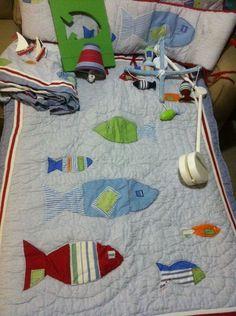 Gone Fishing Nursery Blanket Baby Fisherman Lake Life