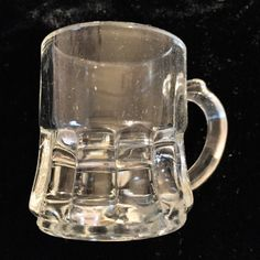 SHOT GLASSES/TOOTHPICK holder in the mini mug shape. Antique by Federal Glass Co Shot Glasses, Selling On Ebay, Barware, Plant, Shapes, Mugs, Antiques, Tableware, Federal