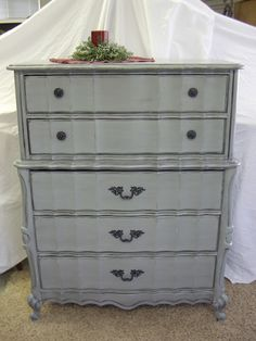 A Brush of Whimsy: Gray Nightstand