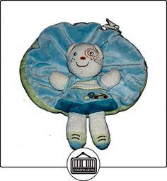 Doudou plat rond - CHAT bleu blanc - Kitchoun Kiabi Nicotoy 6782  ✿ Regalos para recién nacidos - Bebes ✿ ▬► Ver oferta: http://comprar.io/goto/B01AXOAPHA