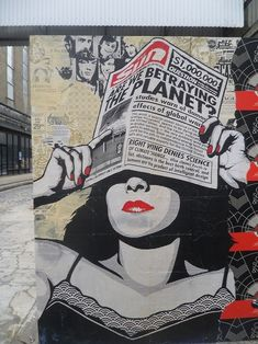 Close up of street art by Obey (Shepard Fairey) #obey #shepardfairey