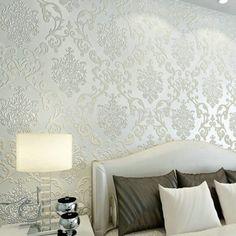 Classic 3D Damask Wallpaper. $28 a piece.