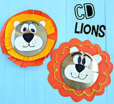 Leoni con CD riciclati