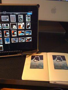 iPad and Moleskine via tethered iPhone by mcmorgan08, via Flickr