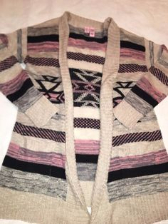 Ladies Size Small Sweater Cardigan By Love On A Hanger Multi Color Long Stylish #LoveOnAHanger #Cardigan