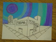 Mrs. Knight's Smartest Artists: 5th grade drawing: 2-point perspective