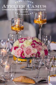 15 id es de centres de table avec fleurs centres de - Coupe en verre sur pied centre de table ...