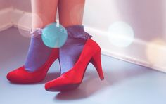 Electric red shoes