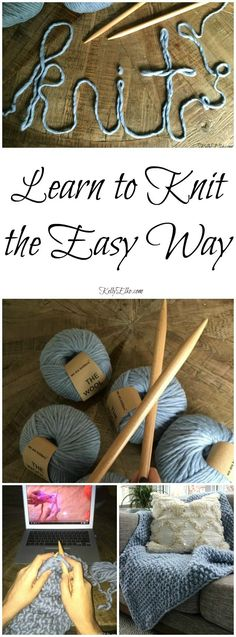 Learn to Knit the Easy Way! Make a chunky wool blanket even if you've never knit before http://kellyelko.com