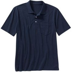 George Big Men's Short Sleeve Polo, Size: 5XL, Blue