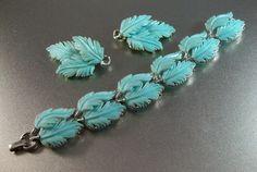 Vintage Lisner Thermoset Bracelet Earrings Set by LynnHislopJewels