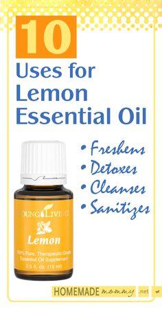 10 Uses for Lemon Essential Oil | www.homemademommy.net