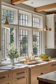 Home Decor Kitchen, Interior Design Kitchen, Home Kitchens, Country Interior Design, Country Kitchen Designs, Farmhouse Interior, Modern Kitchen Design, Dream Home Design, My Dream Home