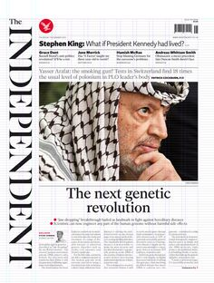 New look of The Independent (a UK broadsheet) by designer Matt Willey and the newspaper's in-house design team.