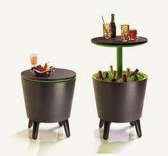 How fun! A Pop-Up cooler pub table/bar from Keter …