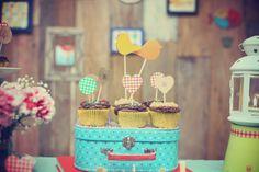cupcake com carimbo