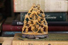 Monkeys! Soapstone Carved Monkey Family or Troop