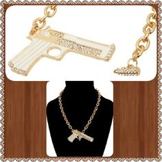 Selling this Pistol chain necklace in my Poshmark closet! My username is: mwdjewels. #shopmycloset #poshmark #fashion #shopping #style #forsale #Jewelry