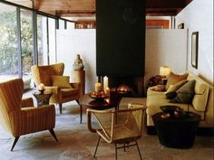 """See the """"Living Room"""" in our Home Tour: Santa Monica Midcentury gallery Decor, Mid Century Modern Chair, Mid Century Modern Furniture, Living Room Interior, House Tours, Interior, Home Furniture, Home Decor, House Interior"""