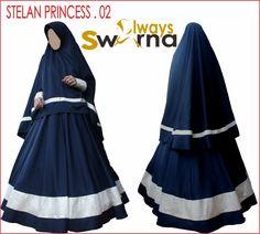 Detail Stelan Princes.01 Bahan Qamis / Gamis / Jilbab : BALOTELI Bahan Kerudung /khimar : BALOTELI Bahan baloteli ini adem dipakainya.  Detail model baju hijab stelan ini sebagai berikut : Untuk kerudungnya didesain ada belahan di tangan sehingga memberikan kemudahan untuk aktivitas. Ada 2 pilihan kerudung : dengan PET atau tanpa PET Gamis... Hijabs, Muslim, Model, Dresses, Fashion, Princess, Fashion Styles, Hijab Styles, Moda